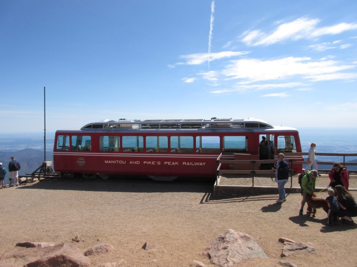 Cog Railway Train at Summit of Pike's Peak